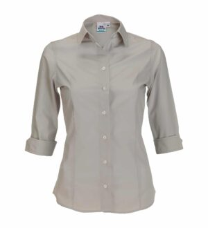 Women's 3/4 Sleeve Poplin Dress Shirt