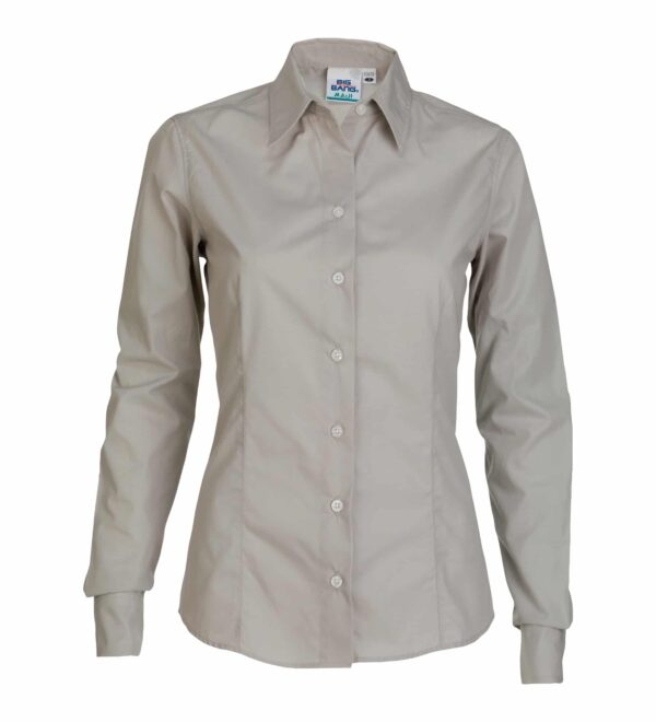 Women's Long Sleeve Poplin Dress Shirt