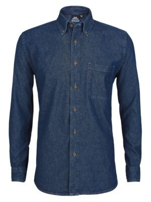 Men's Long Sleeve Heavyweight Denim Shirt