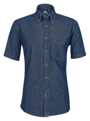 Men's Short Sleeve Heavyweight Denim Shirt