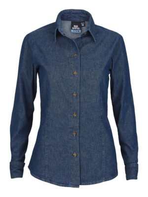 Women's Long Sleeve Heavyweight Denim Shirt