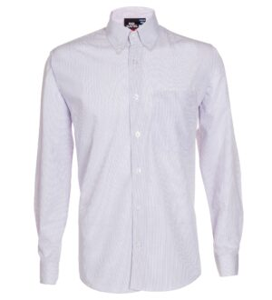 Men's Long Sleeve Mini Check Dress Shirt